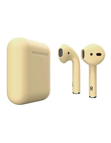 Купить Apple AirPods 2 Colors Light Yellow Matte (MRXJ2) в ELEKTRON.UA